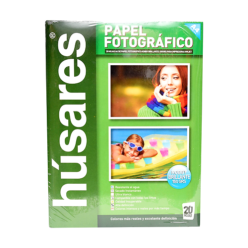 Papel Fotografico Brillante 150Grs A4 X20Hjs