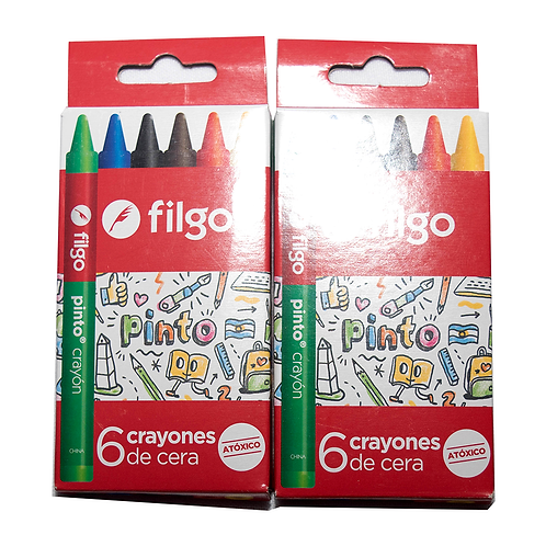 Crayones De Cera Pinto Estuche X6 Wxc-E6-Sur