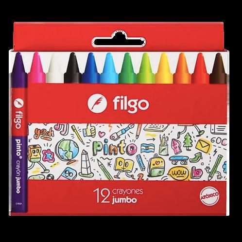 Crayones De Cera Pinto Jumbo X12
