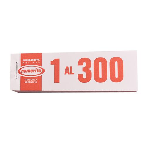 NUMERITO GUARDARROPA/RIFA 1 AL 300 166
