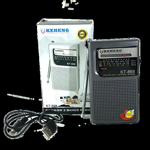 Cod. - 11506 - Radio A Pila Y Bateria Recargable Kt878