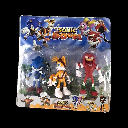 Muñeco Sonic En Blister X3 20751