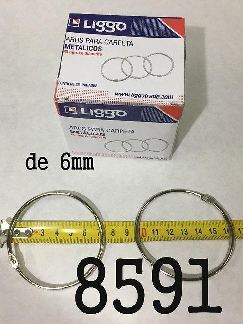 Cod. - 8591 - Aro De Carpeta 60Mm X25Un