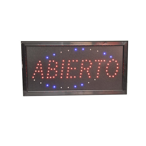 Cartel Abierto/ kiosco  Adbo5