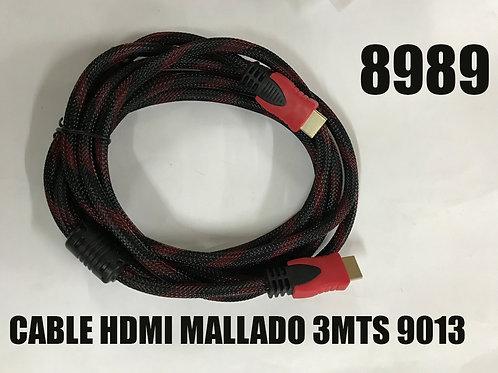 Cod. - 8989 - Cable Hdmi Mallado 3Mts 9013