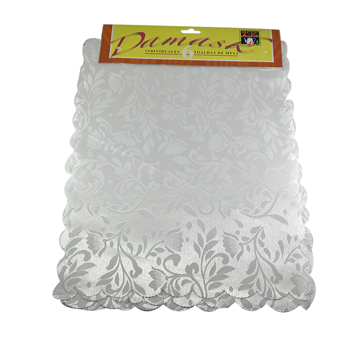 Individuales X6 Damask Simple 30X45 Ind6-1D