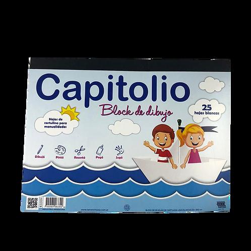 Cod. - 7087 - Block De Dibujo Blanco Capitolio X24 6330