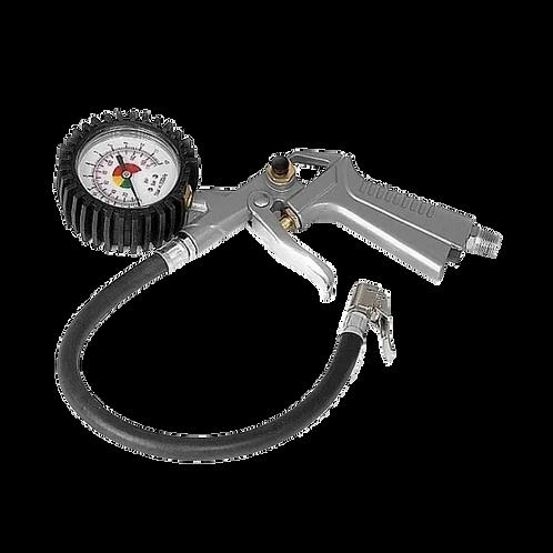 Pistola De Inflar Con Manómetro