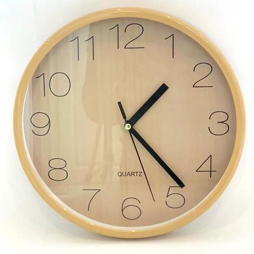 Reloj De Pared Redondo Marco Simil Carrara 8461