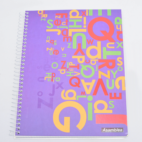 Cuaderno Asamblea 21X27 T/C Emplacado 100Hjs As37