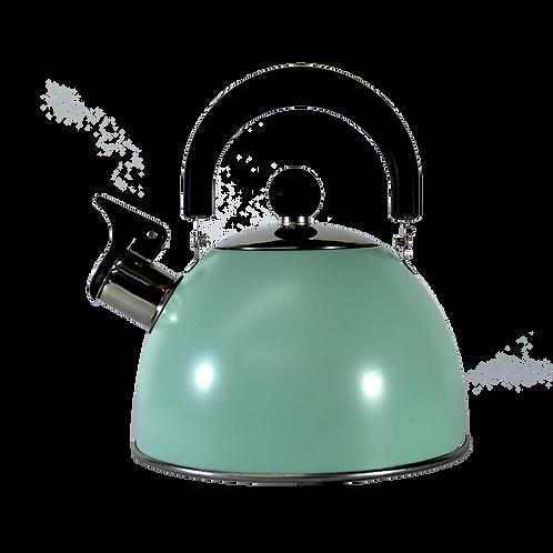 Cod. - 19372 - Pava Color Acero Inox C/Mango Negro 1.6L Gb-1-6215