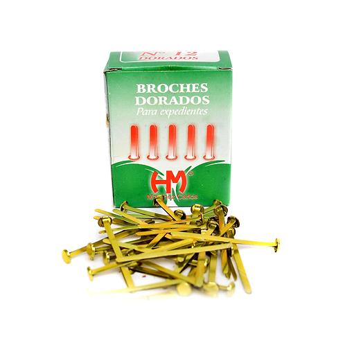Cod. - 15444 - Broches Dorados N°12 65Mm