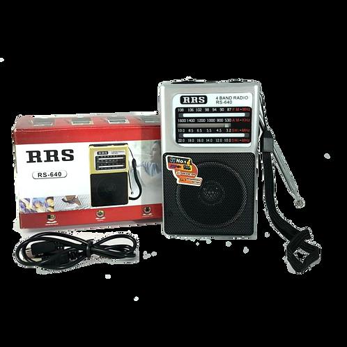 Radio A Pila Y Bateria Recargable Rs640