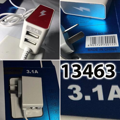 Cod. - 13463 - Cargador 3En1 3.1A Caja Azul W130