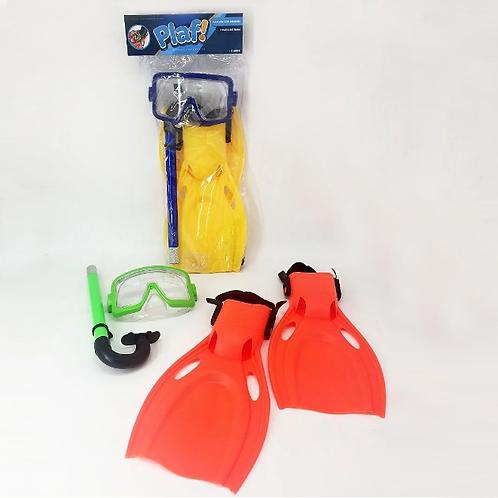 Set Mascara Snorkel Patas De Rana Chica 106S4F1