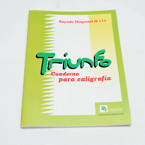 Cuaderno Triunfo Caligrafia/Diag 24Hjs