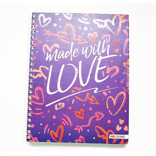 Cuaderno A4 Tapa Dura 120Hjs Love - 1206107