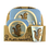 Thumbnail: Cod. - 19411 - Juego De Bambu 5Pcs Cuadrado Kid Sets-C