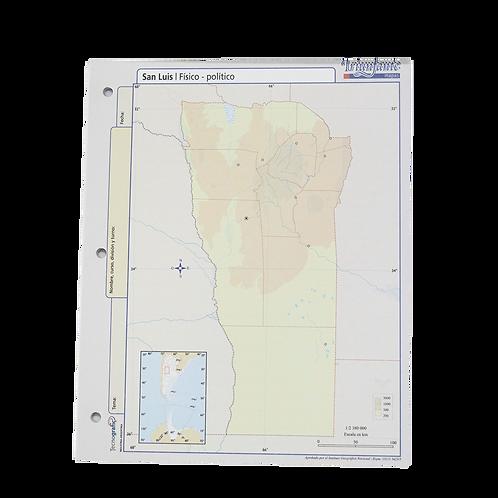 BLOCK MAPA SAN LUIS FISICO/POLITICO N°3 13126
