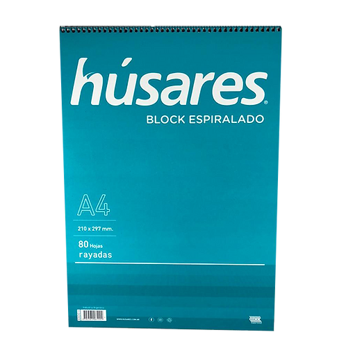 Cod. - 19658 - Block Espiralado Rayado A4 80Hjs 6400