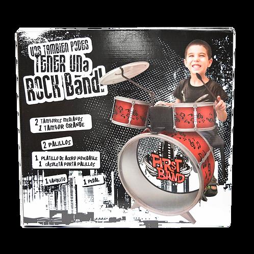 Bateria Roja Musical En Caja Fd2541
