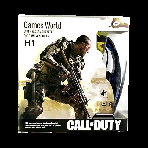 Auricular Gamer Call Of Duty H1