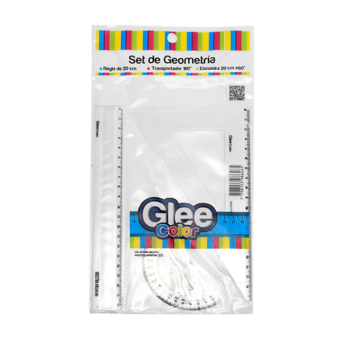 SET DE GEOMETRIA 3 PCS 20CMS GLEE 180-0110 86465