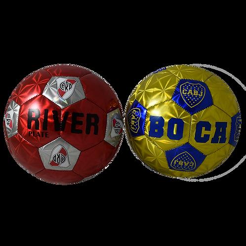 Pelota De Futbol Nº2 River Boca Brillante Fb01