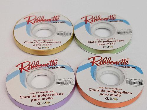 Cod. - 15640 - Cinta Ribbonette Pp Lisa 10Mm 50 Mts