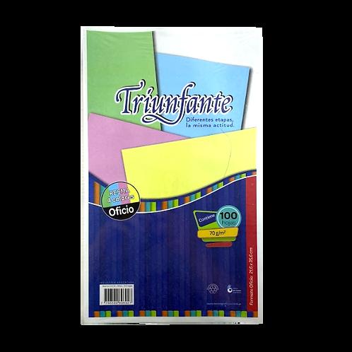 Cod. - 11463 - Resma Triunfante 100Hjs Oficio Multicolor
