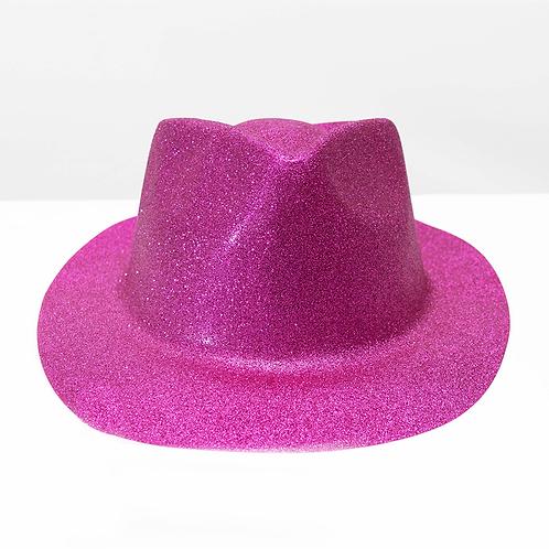Cotillon Sombrero Redondo Glitter Hat2