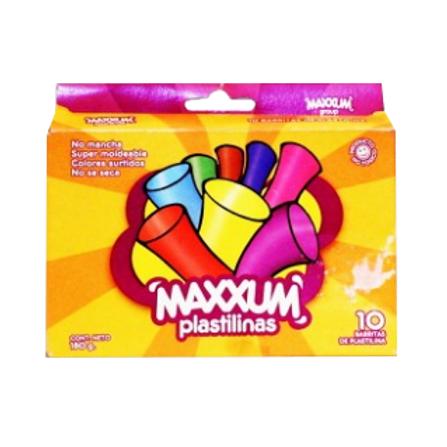 Plastilina Estuche X1 Surtido Maxxum