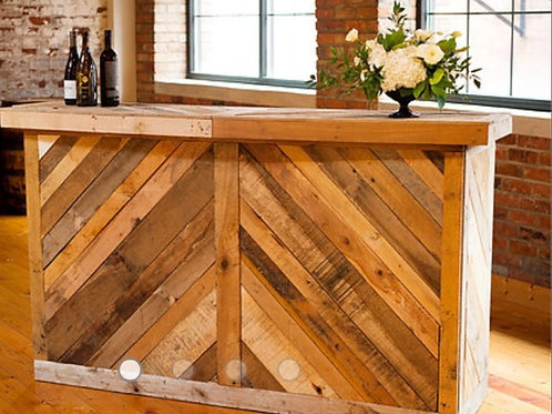 Rustic Wood Pallet Bars