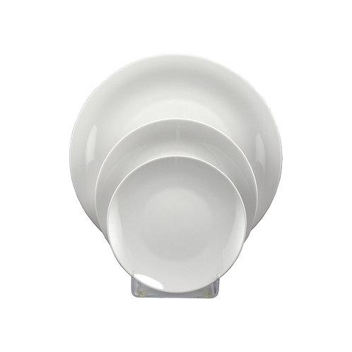 Round White China