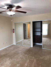 The master bedrooms at these Leesburg rentals are separated from the other bedrooms providing privacy for residents
