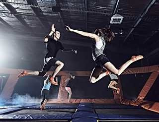 Take flight from trampolines near your Leesburg rental