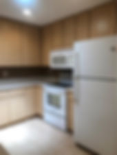 Kitchen with plenty of cabinet space in this Lake County rental