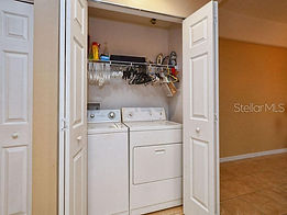A washer and dryer is provided for residents at this Leesburg apartment