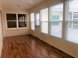 The air conditoned bonus room overlooks the patio at this Leesburg rental