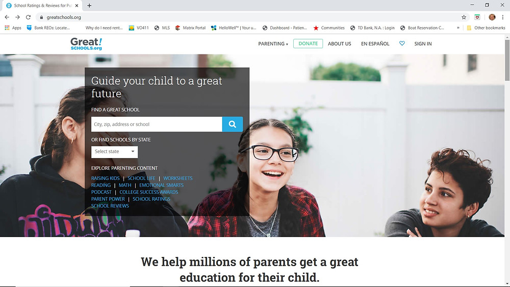 Greatschools.org gives information about the school your child will attend at my Leesburg rental
