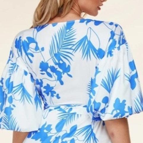 Blue Fleur Maxi Dress