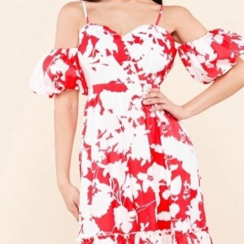 Delicate Petals Maxi Dress