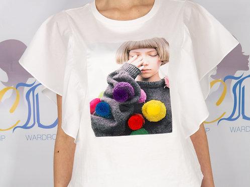 Pom Pom Divine Ruffle Shirt
