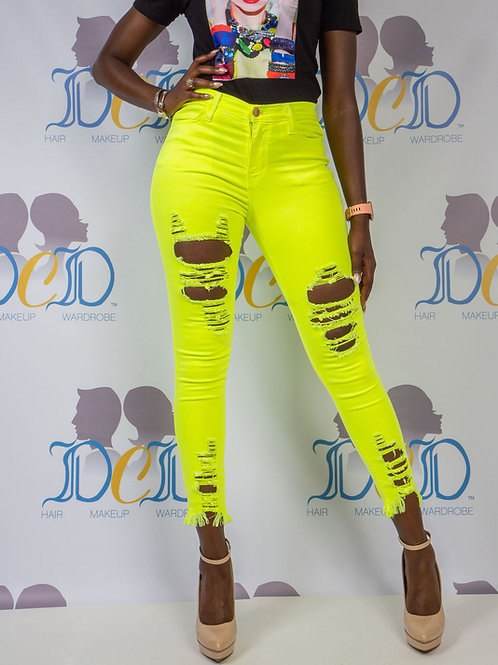 Neon Vision Ripped Jeans