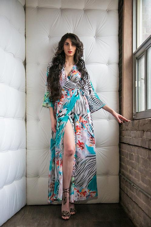 Labyrinth Wrap Resort Dress