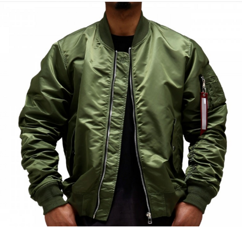 Men's Olive Bomber Jacket