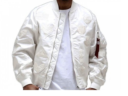 Men's Bomber Jacket with Patches