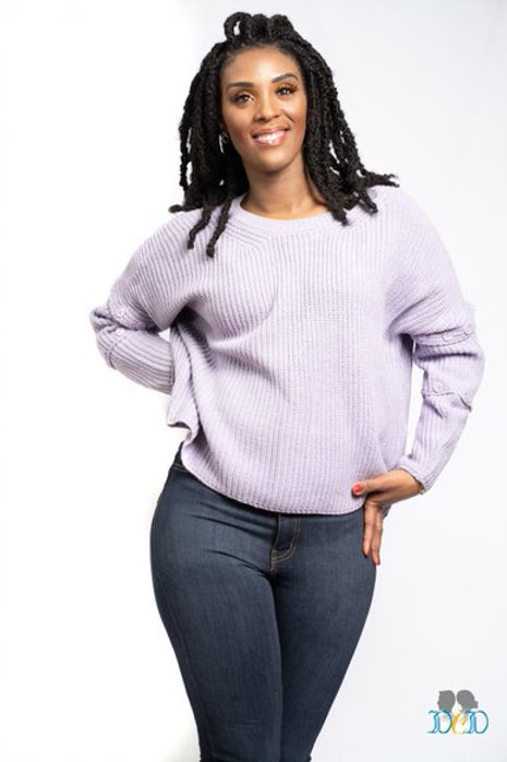Lavendar Detach Sweater
