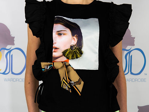 Accessorized Graphic Tee Shirt