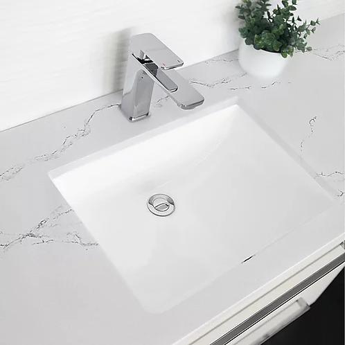 Stylish Sharp Undermount Sink - White